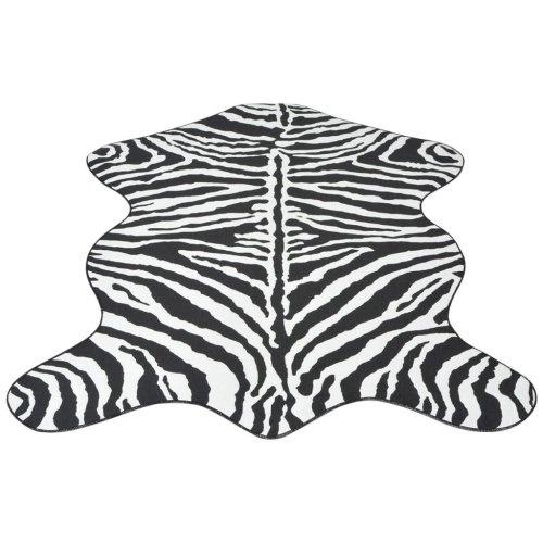 vidaXL Shaped Rug 110x150 cm Zebra Print