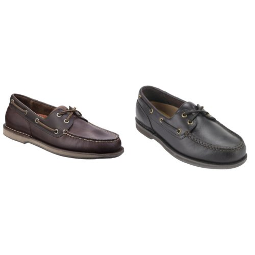 Rockport Mens Perth Leather Boat Shoes