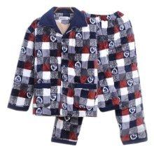 Men Pajamas Warm Thick Cotton Winter Suit Modern Set Sleepwear/Nightwear Clothes for Home, C11