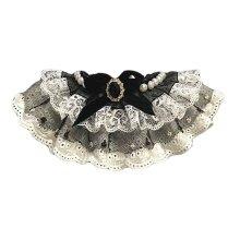 Retro Black Lace Collars European Style Handmade Cat Collars Dog Necklace 8.2-11