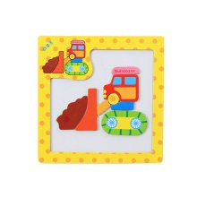 Wooden With Magnet Jigsaw Puzzle Children's Games Toys,buildozer