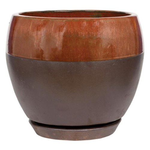 ATT Southern 212332 Copper Kend Egg Planter - 12 in.