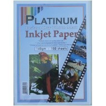 100 Sheets Platinum A4 140gsm A4 Single Sided Photo Matt Inkjet Paper