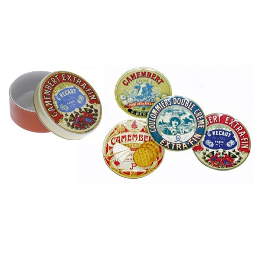 BIA Decorated Camembert Baker & 4 Canape Plates
