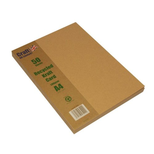 Craft UK 2042 A4 Kraft Card - Brown (Pack of 50 sheets)