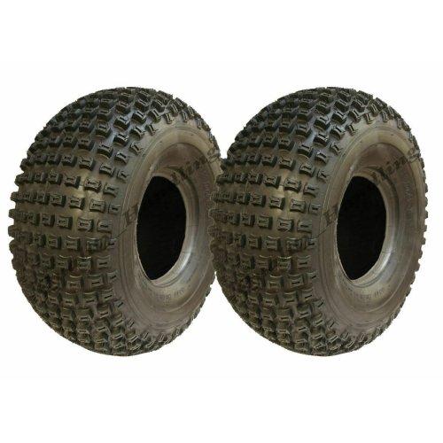 22x11.00-8 Knobby ATV tyres Quad trailer tyre tire 4 ply P322 set of 2