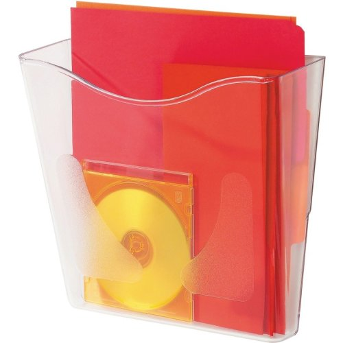 Wall-Mounted Document Holder - Clear | Transparent Wall Pocket