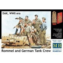 Mas3561 - Masterbox 1:35 - Rommel and German Tank Crew, Dak Wwii Era