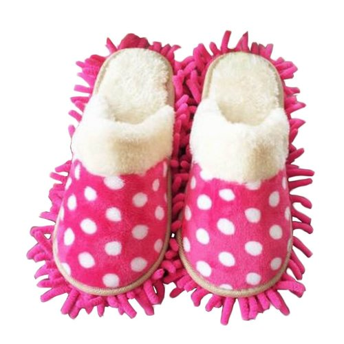 [Dot] Creative Mop Slippers Floor Cleaning Slippers Mopping Shoes