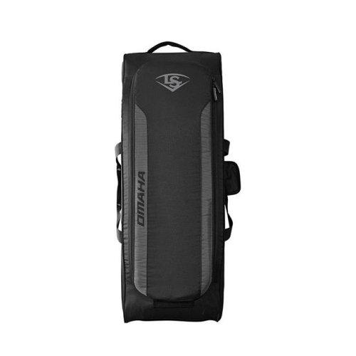 Louisville Slugger 1113655 Omaha Rig Wheeled Baseball Bag, Black