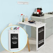 SoBuy® FWT20-W, Folding Wall-mounted Drop-leaf Table Desk, Kitchen & Dining Table with Blackboard