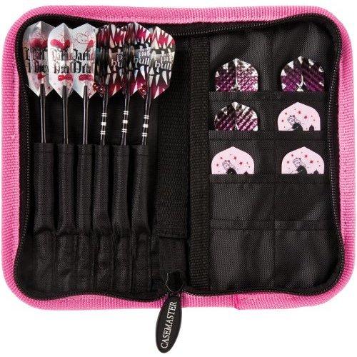 Casemaster Deluxe 6 Dart Nylon Storage/Travel Case, Pink
