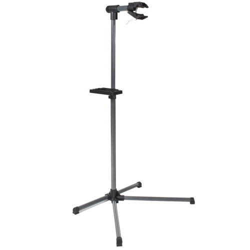Bike repair stand with tool tray - black