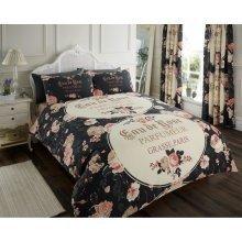 Iola Paris black cotton blend duvet cover