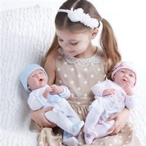 JC Toys Realistic Twin with Pajamas Girls Baby Dolls