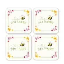 Cooksmart BEE HAPPY set of 4 placemats or coasters
