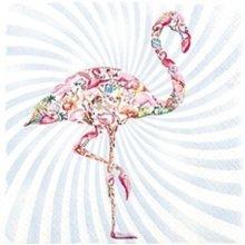 4 x Paper Napkins - Flamingo - Ideal for Decoupage / Napkin Art