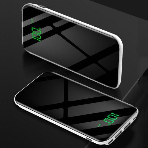 ARIO®16000mAh stylish mirror PowerBank for all mobile phones (Black)