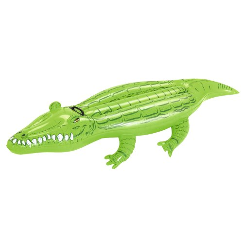Bestway 41010 Inflatable Pool Float, Crocodile Ride on Lilo Lounger