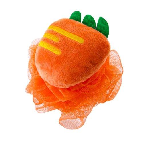 Soft Bath Ball Beautiful Rubbing Bath Towel, Orange