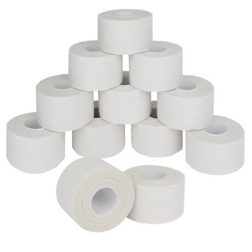 12 x Sports Tape 10 m x 2.5 cm Colour: white