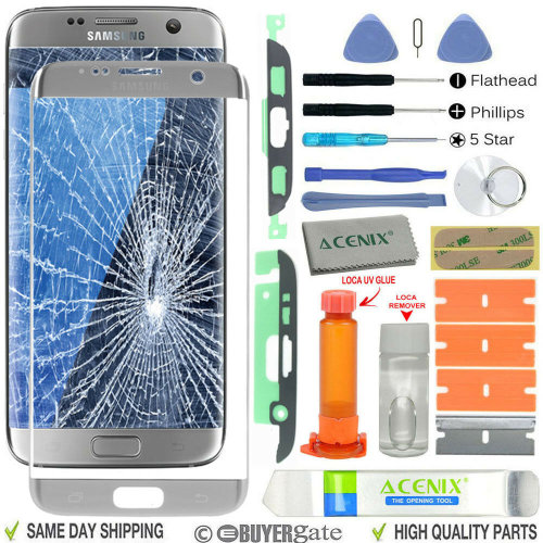 Samsung Galaxy S7 Edge Replacement Screen Front Glass lens Repair Kit