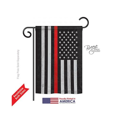 Breeze Decor 58383 Military US Red Stripe 2-Sided Impression Garden Flag - 13 x 18.5 in.