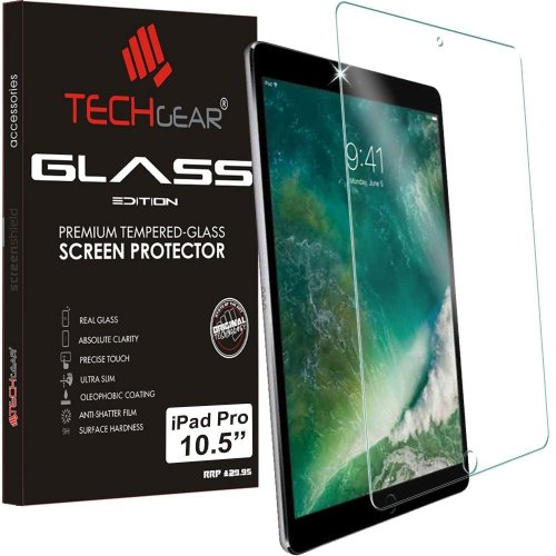 "TECHGEAR GLASS Edition for iPad Pro 10.5"" - Genuine Tempered Glass Screen Protector Guard Cover Compatible with Apple iPad Pro 10.5 (Models: A1701,..."