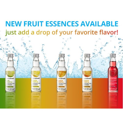 Sodastream Zero Calorie Fruit Drops 40ml Glass Bot