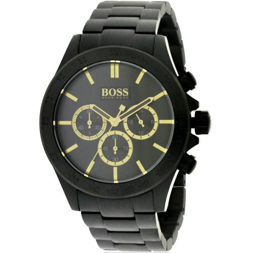 Hugo Boss Ikon Black Chronograph Mens Watch 1513278
