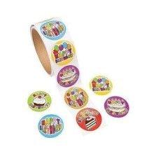 Fun Express 100 Birthday Roll Stickers