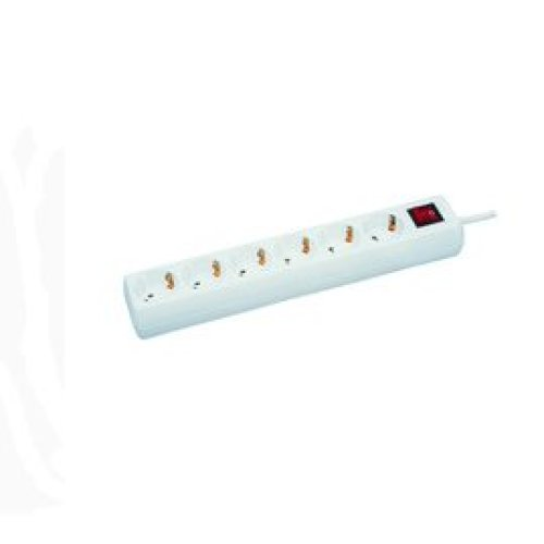 Microconnect GRU00610W 6AC outlet(s) 10m White power extension