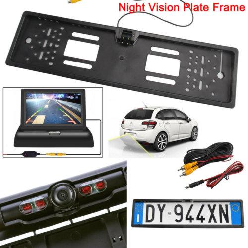 170¡ã Car Rear View Reversing HD Camera Back Up Parking Plate Night Vision IR LE
