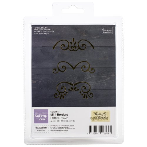"Couture Creations Butterfly Garden Hotfoil Stamp Set-Mini Borders 2.5""X.8"""