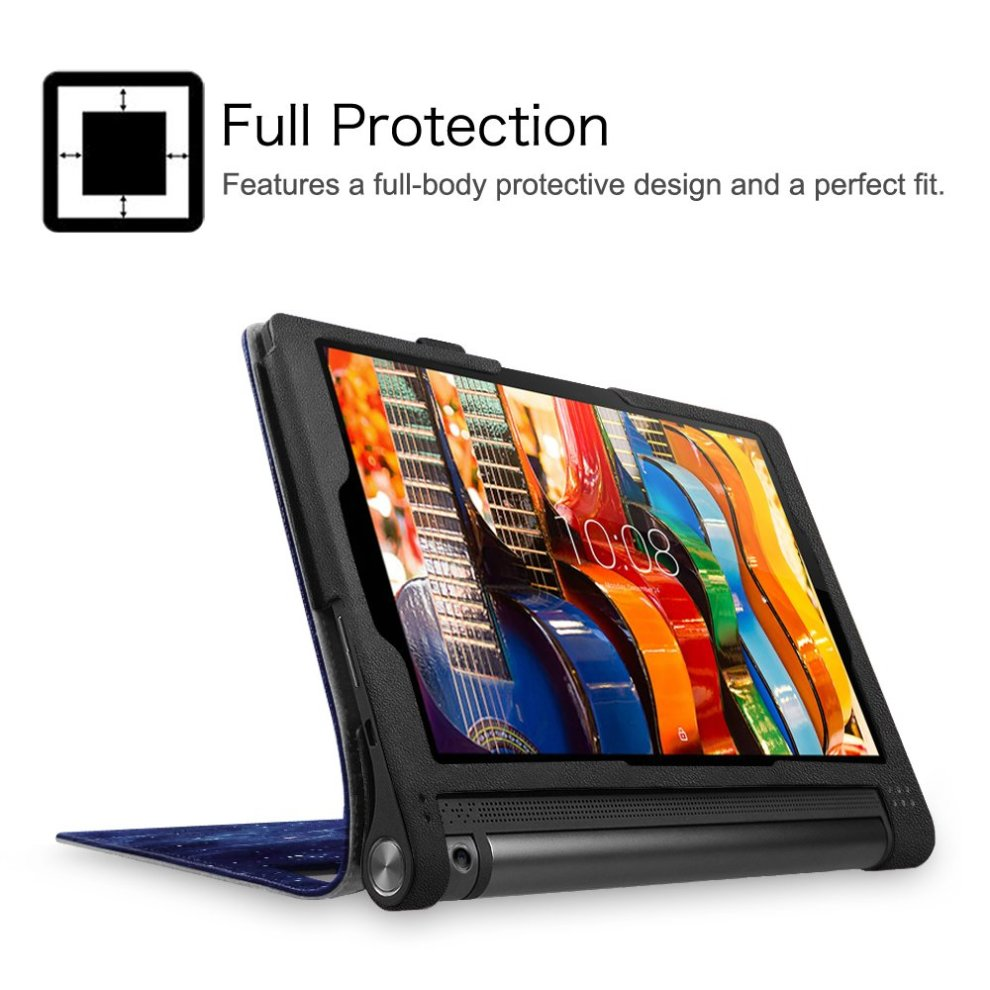 best loved 29c9a e03cf Fintie Lenovo Yoga Tab 3 10 Case - Folio Premium PU Leather Cover with Auto  Sleep / Wake Feature for Yoga Tablet 3 10 10.1-Inch Tablet, Galaxy