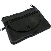 Unisex Small Leather Wallet | Zip & Button-Up Coin Purse
