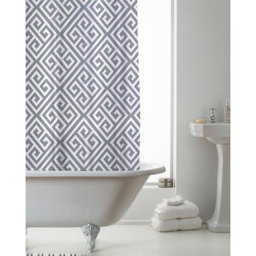 Country Club Shower Curtain Deco Grey 180 x 180cm