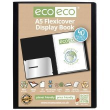 1 x A5 Flexicover 40pkt (80 Views) Presentation Display Book - Black
