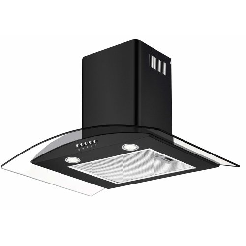 CIARRA Glass Cooker Hood 60 cm Ducting Pipe 550 m³/h LED Lighting Grease Filters Stainless Steel Kitchen Chimney Hoods