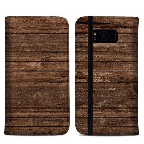 DecalGirl SGS8PFC-STRIWOOD Samsung Galaxy S8 Plus Folio Case - Stripped Wood