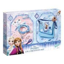 Disney Frozen 2 in 1 Creativity Set Craft Toy New Sealed Shoulder Bag / Bracelet