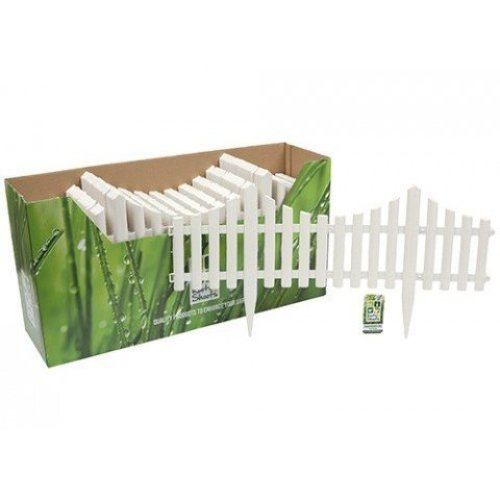 Plastic Picket Fence Piece | Single White Picket Fence Panel