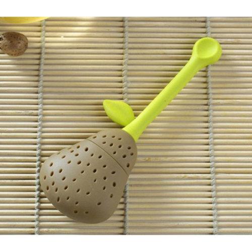 Pear type silicone tea bag tea machine tea filter