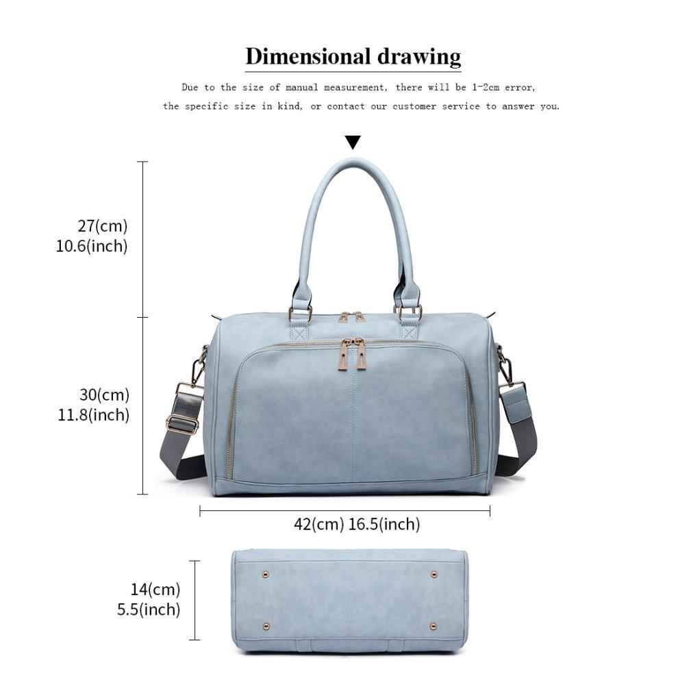 4abd592d846b7 ... 3 Miss Lulu 3pcs PU Leather Baby Diaper Nappy Changing Bag Set Light  Blue - 4 ...