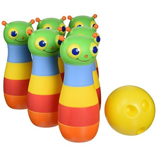 Melissa Doug Sunny Patch Happy Giddy Bowling Set With 6 Pins Bowling Ball and Storage Bag