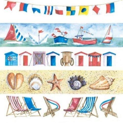 4 x Paper Napkins - Beach Life - Ideal for Decoupage / Napkin Art