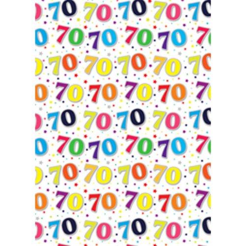 Simon Elvin 24 Sheets 70th Birthday Gift Wraps