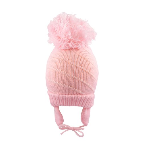 69556eb2e82 Baby Girls Pom Pom Bobble Hat with Chin Ties Winter on OnBuy