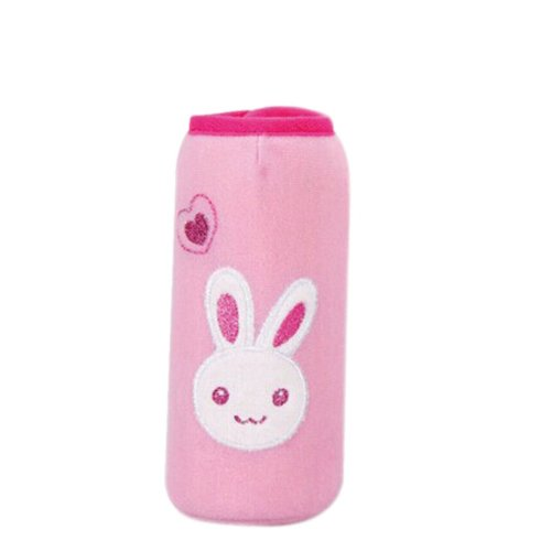 Feeder Milk Bottle Deading Warm Keep Pretecter Bag (15*4.5CM)/Pink Rabbit