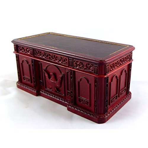 Platinum Collection Dollhouse Miniature Resolute Desk Mahogany P3339